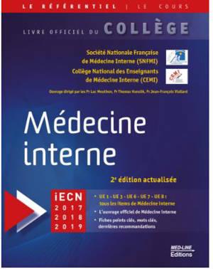 Médecine interne : iECN 2017, 2018, 2019