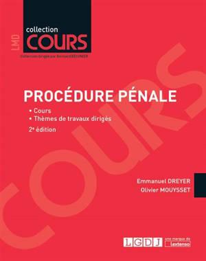 Procédure pénale : LMD 2019 : cours, thèmes de travaux dirigés