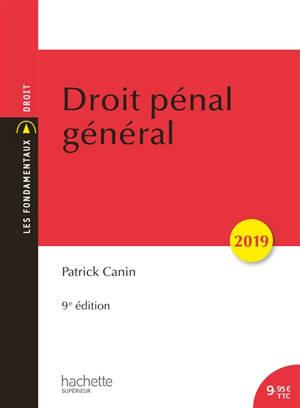 Droit pénal général : 2019