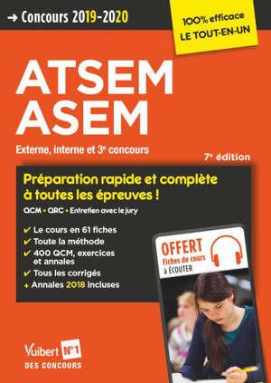 ATSEM, ASEM : externe, interne et 3e concours : concours 2019-2020