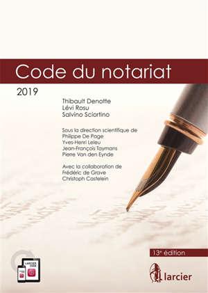 Code du notariat 2019
