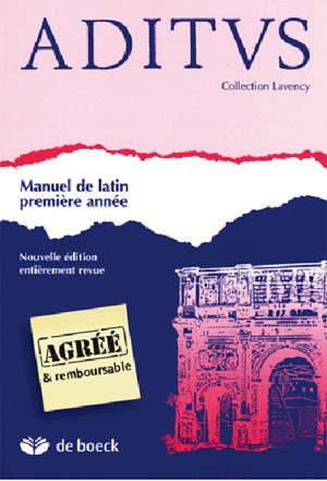 Aditus : manuel de latin, première année