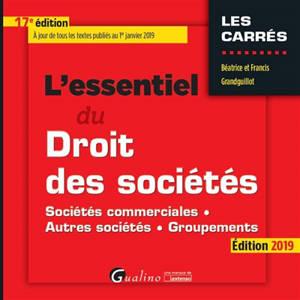 L'essentiel du droit des sociétés : sociétés commerciales, autres sociétés, groupements : édition 2019