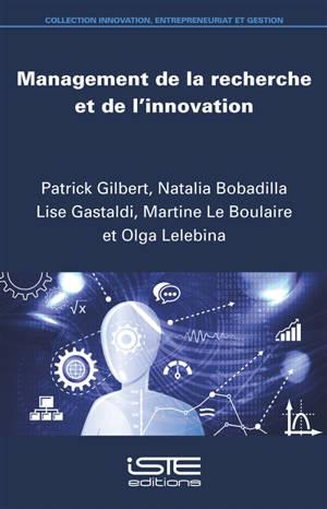 Management de la recherche et de l'innovation