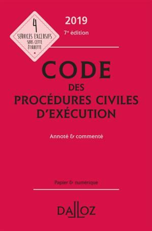 Code des procédures civiles d'exécution 2019