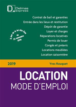 Location, mode d'emploi : 2019