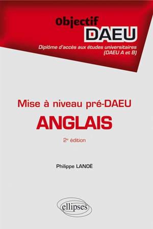 Anglais : mise à niveau pré-DAEU