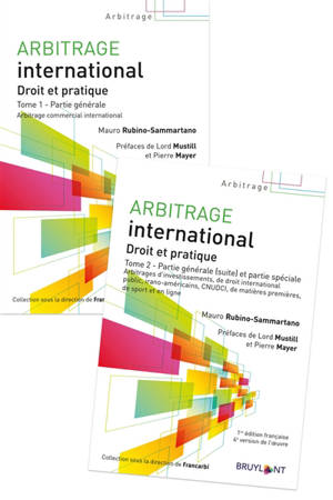 Arbitrage international : droit et pratique