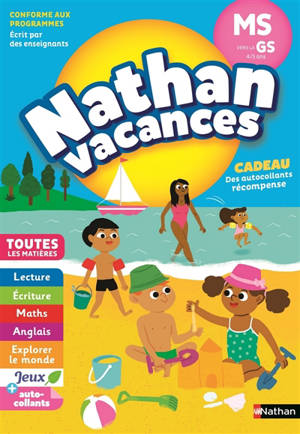Nathan vacances, MS vers la GS, 4-5 ans : toutes les matières