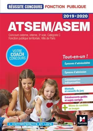 ATSEM-ASEM : concours externes, internes, 3e voie, catégorie C, fonction publique territoriale, Ville de Paris : 2019-2020