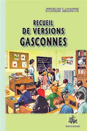 Recueil de versions gasconnes : livre du maître