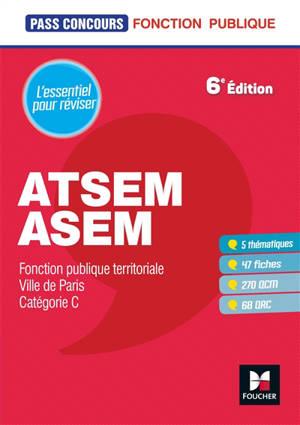 ATSEM-ASEM : fonction publique territoriale, Ville de Paris : catégorie C