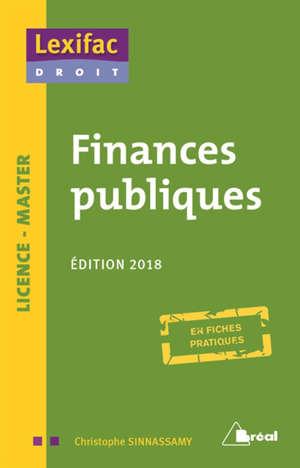Finances publiques : licence, master : en fiches pratiques