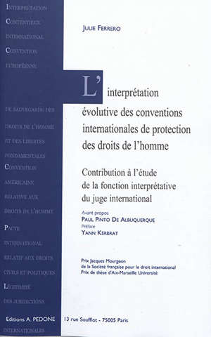 L'interprétation évolutive des conventions internationales de protection des droits de l'homme : contribution à l'étude de la fonction interprétative du juge international