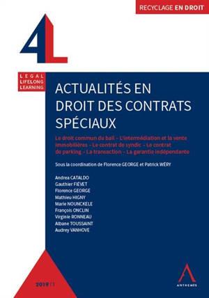 Actualités en droit des contrats spéciaux