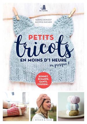 Petits tricots en moins d'1 heure ou presque ! : bonnet, écharpe, gants, coussin...