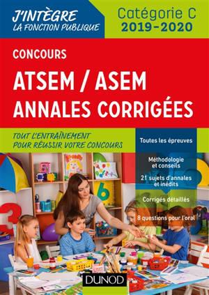 Concours ATSEM-ASEM : annales corrigées : catégorie C, concours 2019-2020