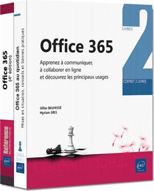 Office 365 : apprenez à communiquer, à collaborer en ligne et découvrez les principaux usages : coffret 2 livres