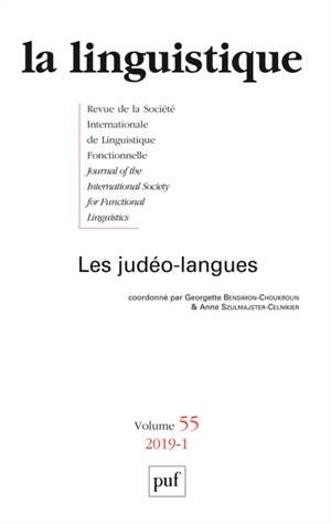 Linguistique (La). n° 1 (2019), Les judéo-langues