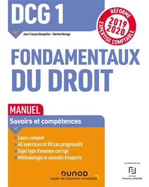 DCG 1, fondamentaux du droit : manuel 2019-2020