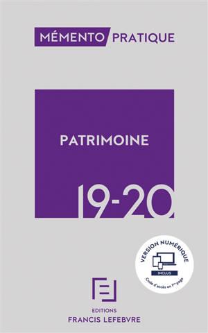 Mémento patrimoine 2019-2020