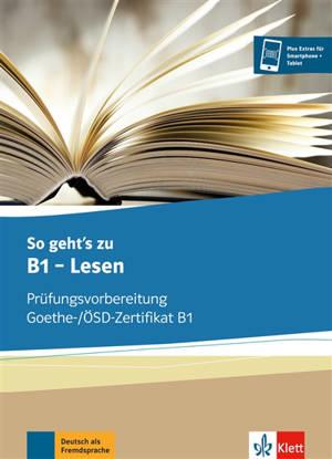 So geht's zu B1, Lesen : cahier d'activités