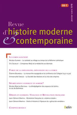 Revue d'histoire moderne et contemporaine. n° 66-1