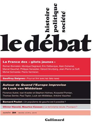 """Débat (Le). n° 204, La France des """"gilets jaunes"""""""