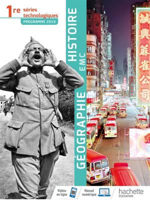 Histoire géographie EMC 1re séries technologiques : programme 2019