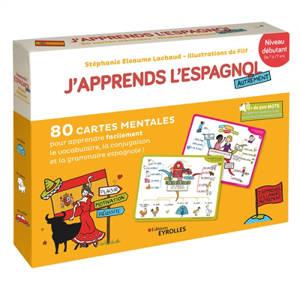 J'apprends l'espagnol autrement : niveau débutant : 80 cartes mentales pour apprendre facilement la grammaire, la conjugaison et le vocabulaire espagnols !