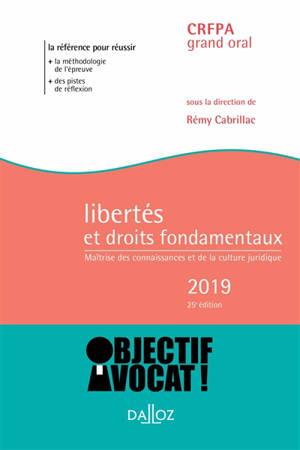 Libertés et droits fondamentaux 2019 : maîtrise des connaissances et de la culture juridique : CRFPA grand oral