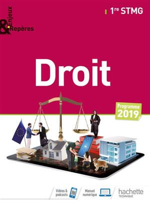 Droit 1re STMG : programme 2019