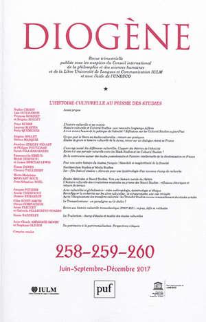 Diogène. n° 258-259-260, L'histoire culturelle au prisme des studies
