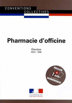 Pharmacie d'officine : convention collective nationale du 3 décembre 1997, étendue par arrêté du 13 août 1998 : IDCC 1996