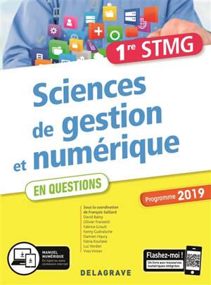 Sciences de gestion et numérique 1re STMG, 2019 : pochette de l'élève