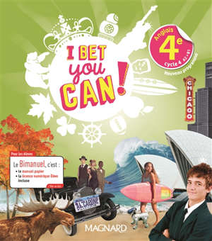 I bet you can ! anglais 4e, cycle 4, A2-B1 : bimanuel : nouveau programme