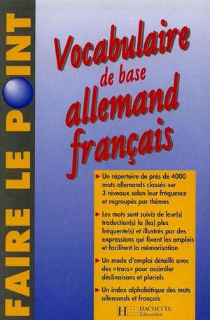 Vocabulaire de base allemand-français