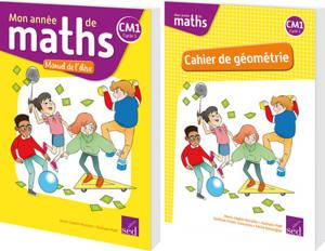 Mon année de maths CM1 : manuel + cahier de géométrie