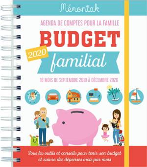 Budget familial 2020 : agenda de comptes pour la famille : 16 mois, de septembre 2019 à décembre 2020