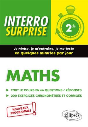 Maths 2de : nouveaux programmes