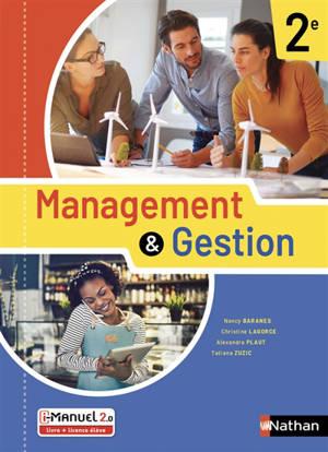 Management & gestion, 2de : i-manuel 2.0, livre + licence élève