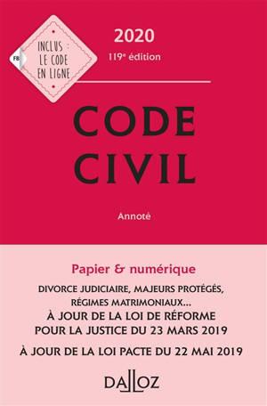 Code civil 2020, annoté