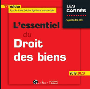 L'essentiel du droit des biens : 2019-2020