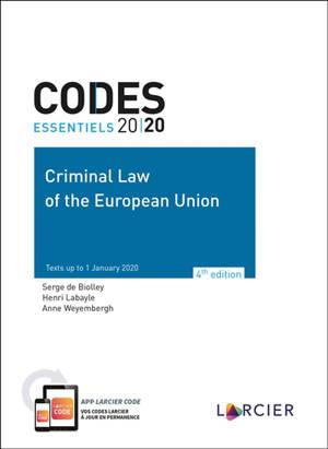 Criminal law of the European Union 2020