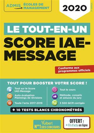 Score IAE-Message : le tout-en-un : 2020