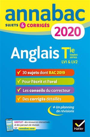 Anglais terminale toutes séries, LV1 & LV2 : 2020