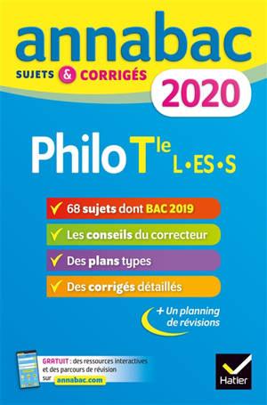Philo terminale L, ES, S : 2020