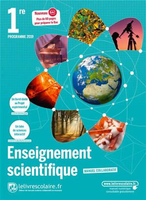 Enseignement scientifique 1re : programme 2019