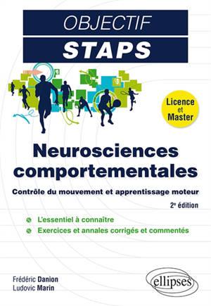 Neurosciences comportementales : contrôle du mouvement et apprentissage moteur : licence et master