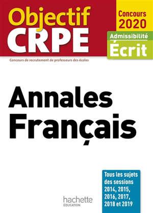 Annales français : admissibilité écrit, concours 2020